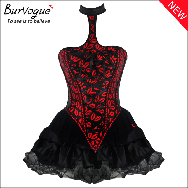 red-lips-halter-bustier-tops-satin-printing-corset-dress-p-20011