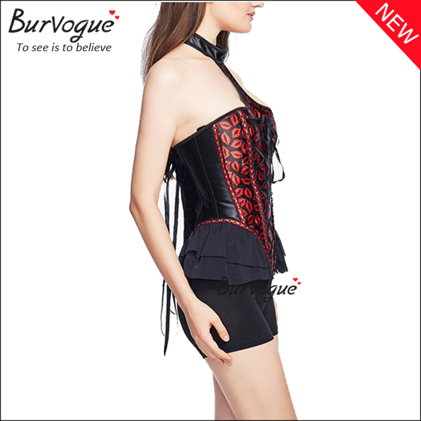 red-overbust-corset-tops-with-lips-pattern-21325