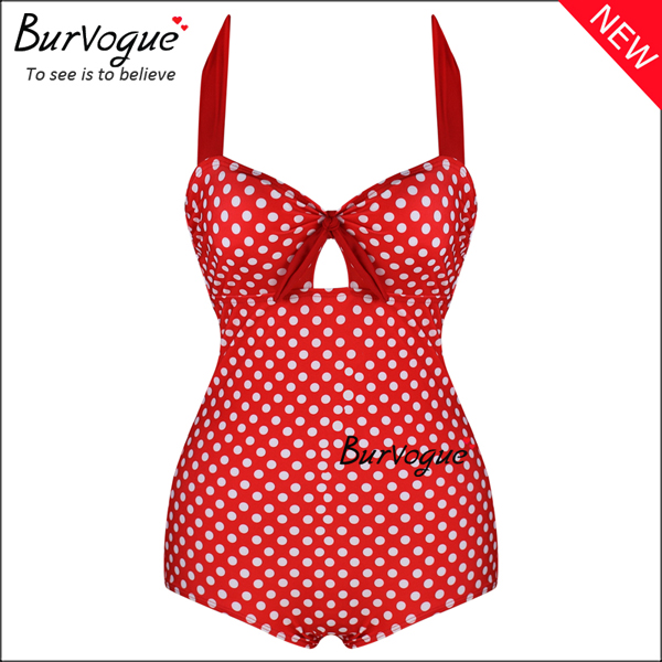 red-polka-dots-womens-bikinis-one-piece-swimsuits-wholesale-70142