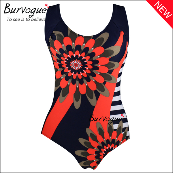 red-printing-plus-size-swimwears-backless-one-piece-swimsuit-70149