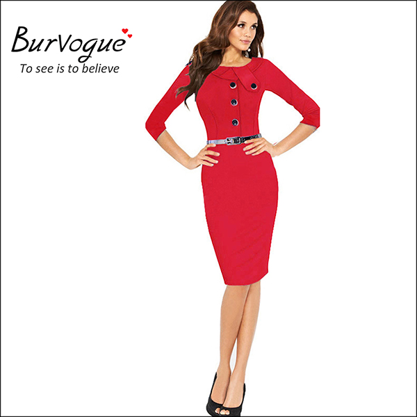 red-seven-sleeves-work-wodycon-pencil-dresses-15577.jpg