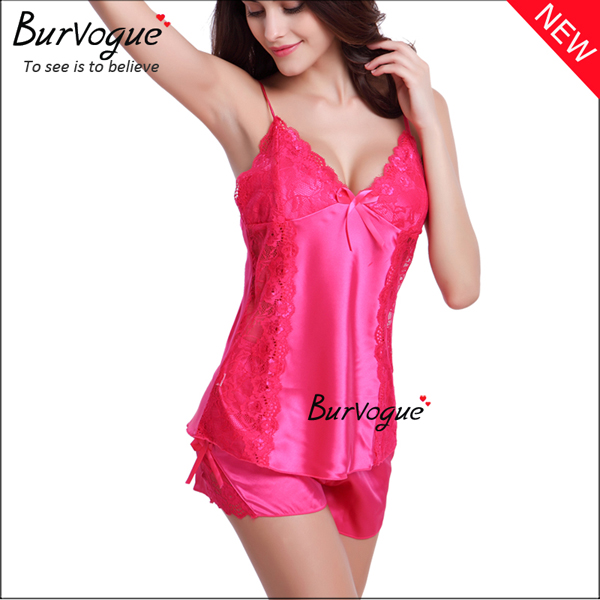 rose-red-lingerie-enchanting-silk-2-piece-nightgowns-sets-13176