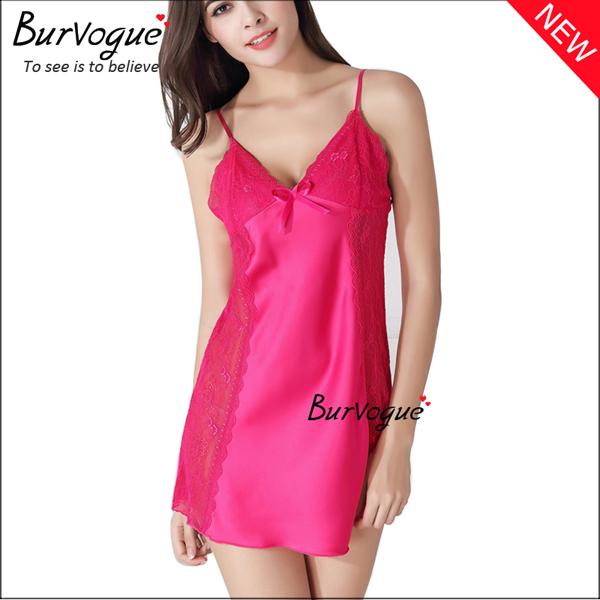rose-red-v-neck-nightgown-sleepwear-backless-babydolls-13175