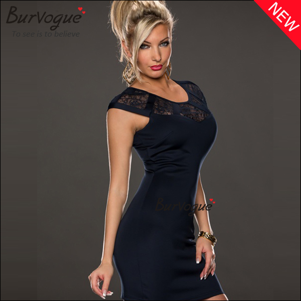Ladies-Casual-Dress-Bodycon-Lace-Party-Dress-Wholesale