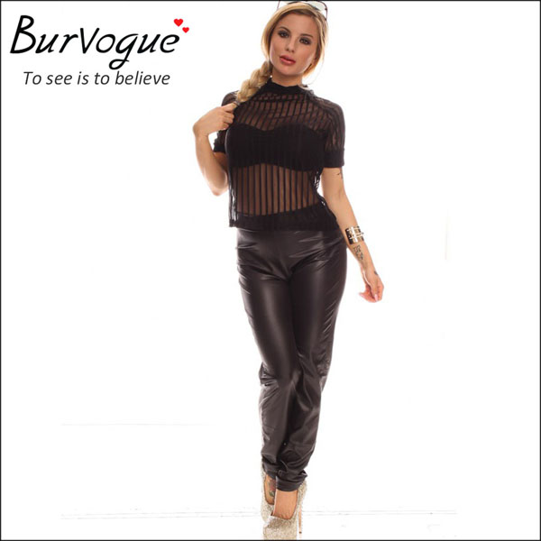 sexy personality see through jumpsuit two piece partysuit-15547