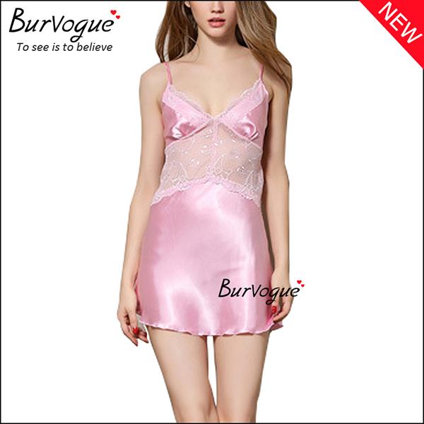 sheer-lace-trim-badydolls-deep-v-chemises-lingerie-13172