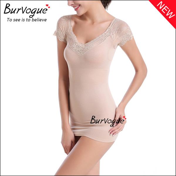 short-sleeve-bodysuits-lace-body-shaper-wholesale-16082