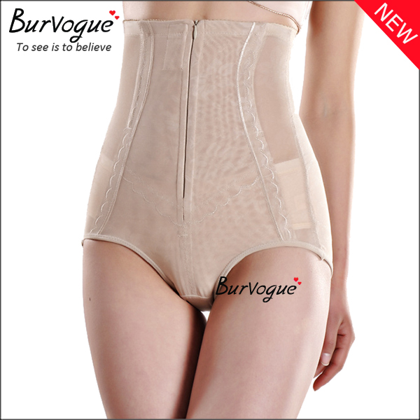 skin-4-steel-boned-lace-sheer-body-shaper-underpants-with-zip-16079