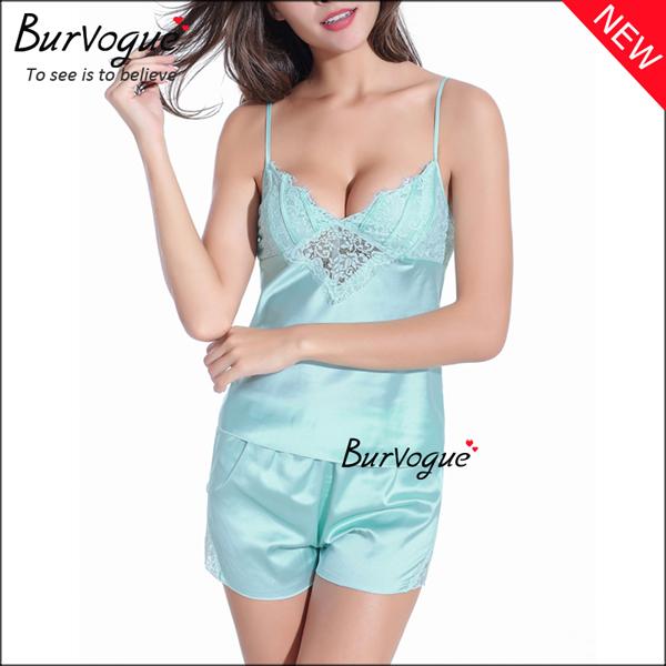 sky-blue-elegant-chiffon-babydolls-lace-robes-lingerie-wholesale-13166