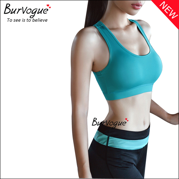 sky-blue-women-seamless-running-crossover-sports-bras-wholesale-80079