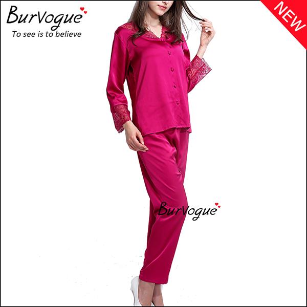 slik-long-sleeve-nightgown-set-gown-robes-wholesale-13168