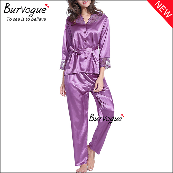 soft-slik-long-sleeve-nightgown-set-gown-robes-wholesale-13168