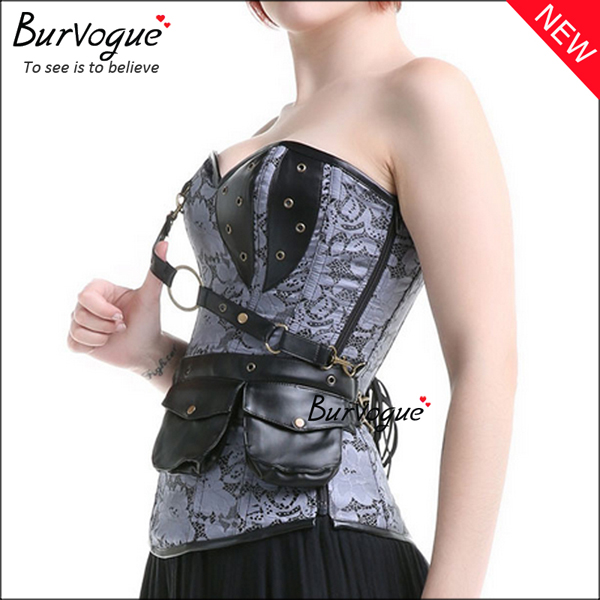 steampunk-corset-zip-12-steel-boned-bustier-tops-23081