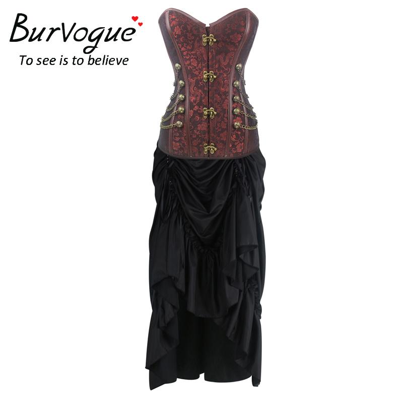 steampunk-costume-satin-skirt-sets-p-20064