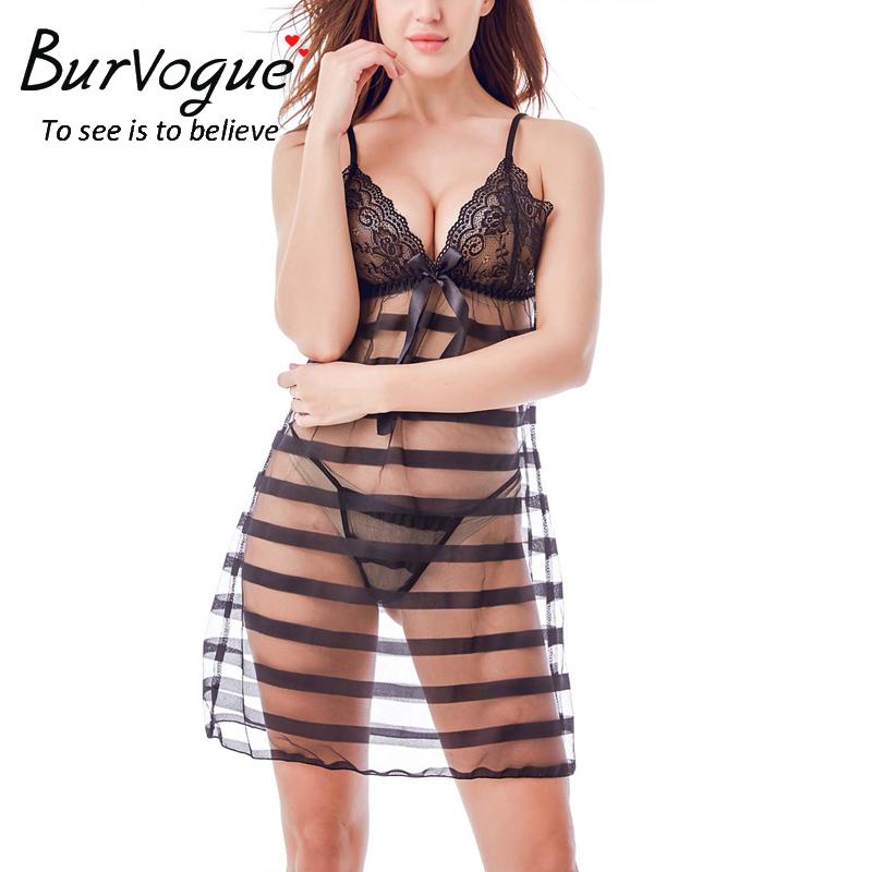 transparent-lace-babydoll-chemises-lingerie-13614