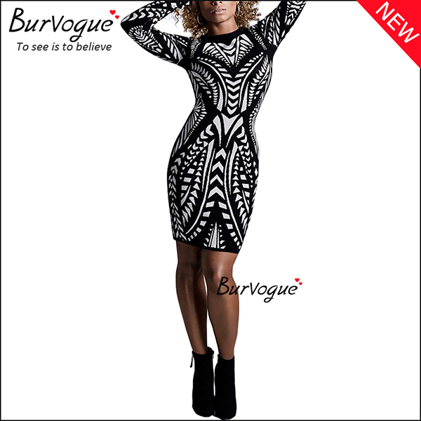 unique-printing-long-sleeve-party-bodycon-dress-with-zipper-15698