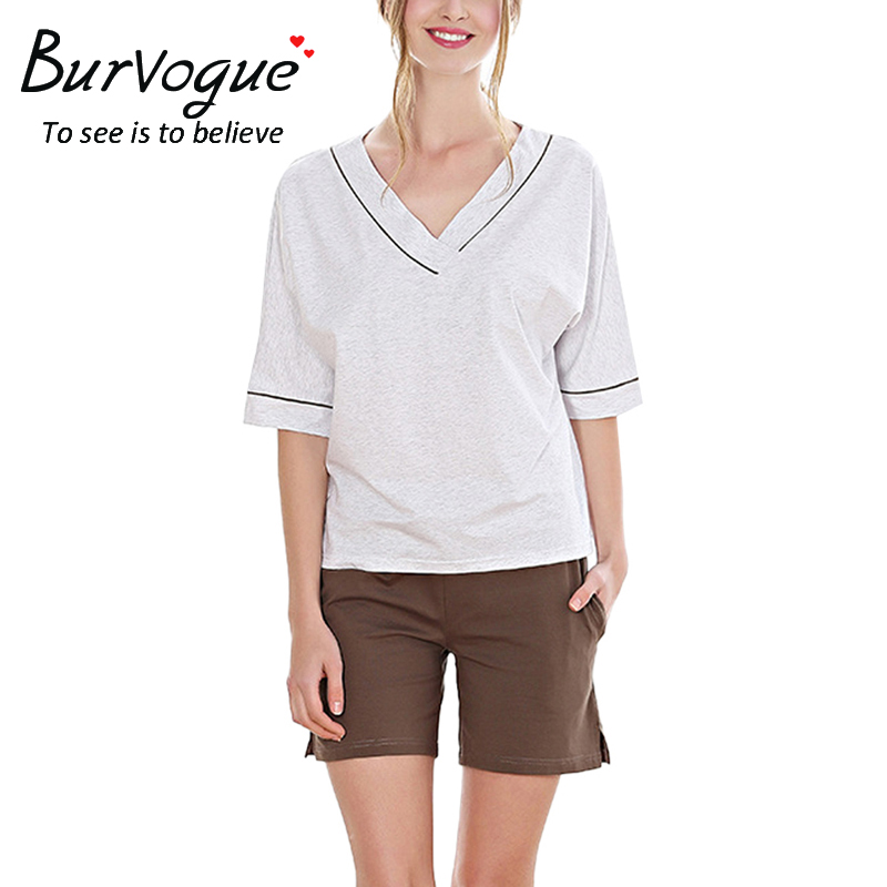 v-neck-short-sleeve-shorts-pajamas-sets-13642