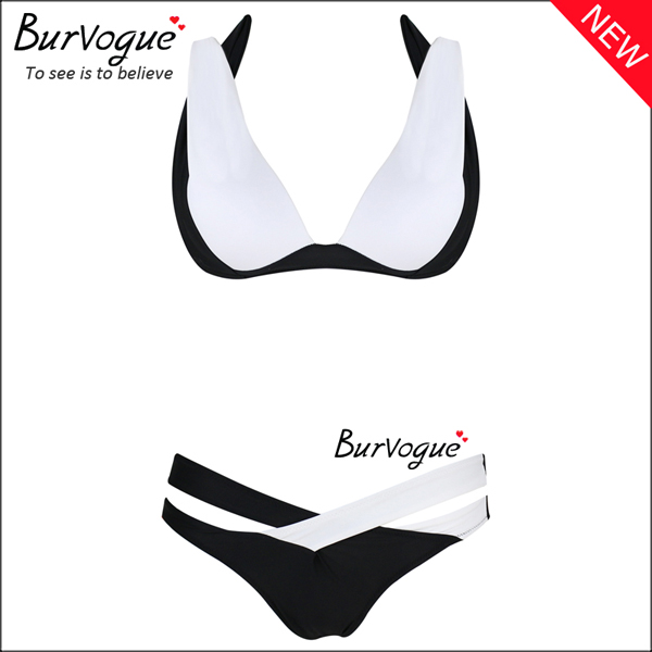 white-bandage-womens-criss-cross-push-up-bikinis-wholesale-70145