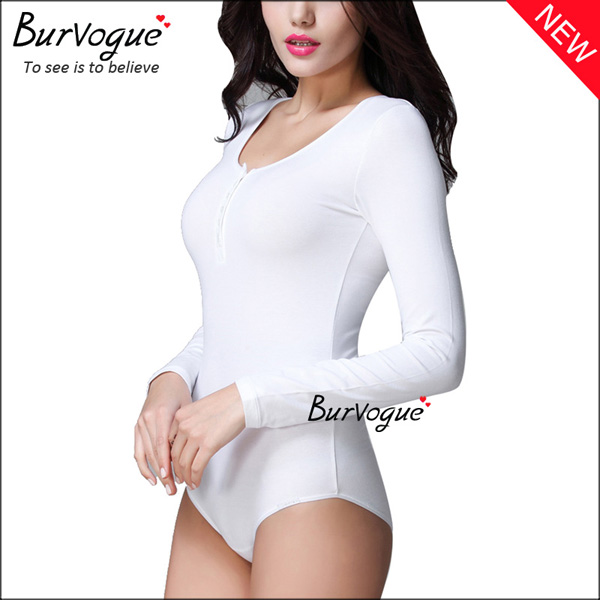 white-seamless-shapewear-long-sleeve-open-crotch-body-shaper-16080