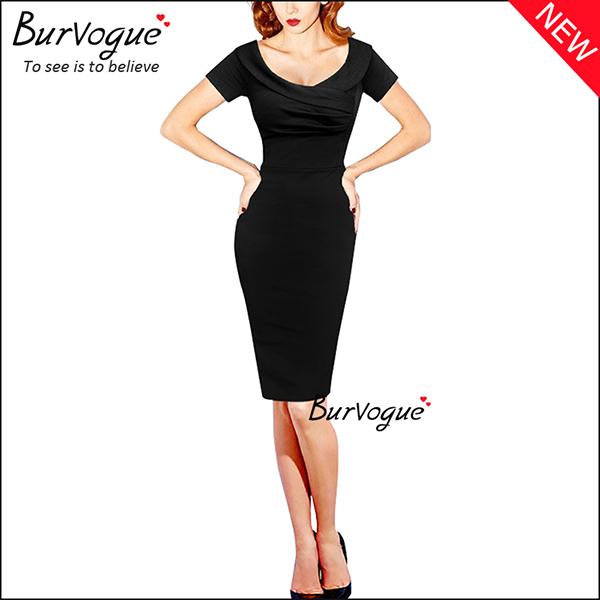 women-casual-short-sleeve-midi-work-bodycon-dress-wholesale-15686