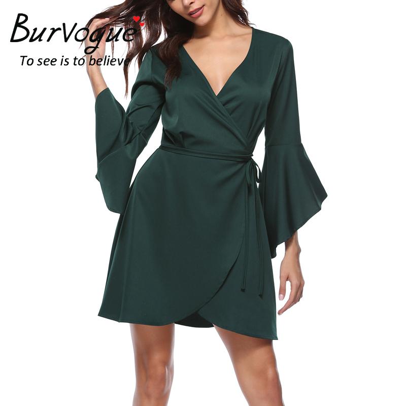 women-s-v-neck-pagoda-sleeve-dresses-17005