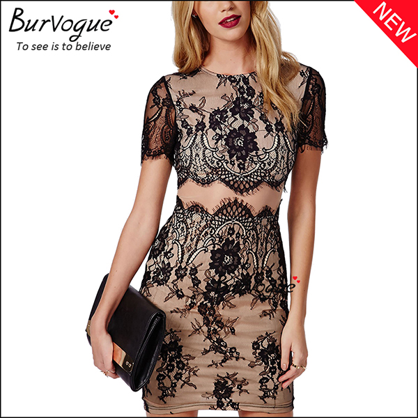 women-short-sleeve-lace-skin-day-party-casual-bodycon-dress-15683
