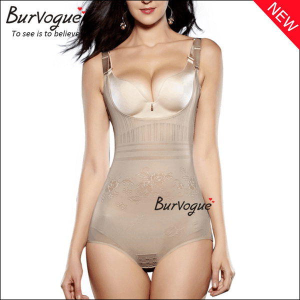 women-skin-mesh-lace-shapewear-control-tummy-body-shaper-16054