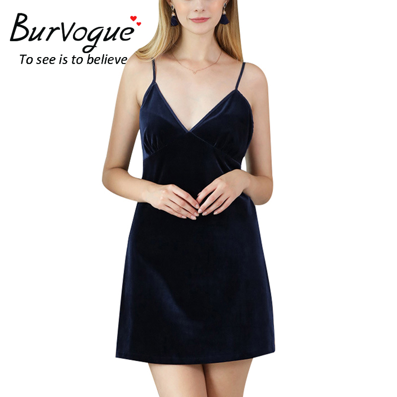 women-v-neck-sleepwear-nightdress-13601