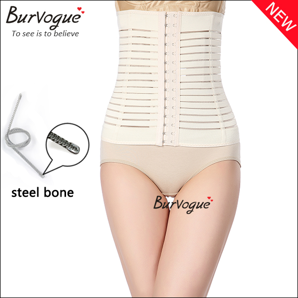 women nude steel bone waist cincher shaper wholesale-80005