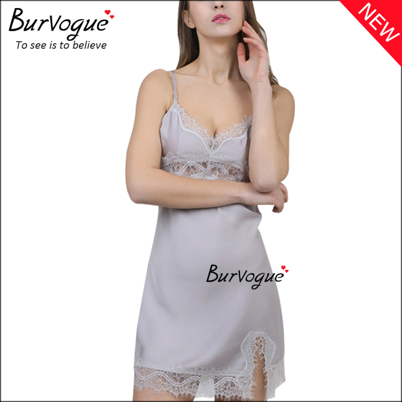 womens-silk-nightdress-lace-babydolls-lingerie-wholesale-13182
