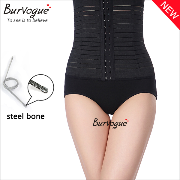 womens high compression steel bone waist cincher shaper-80005