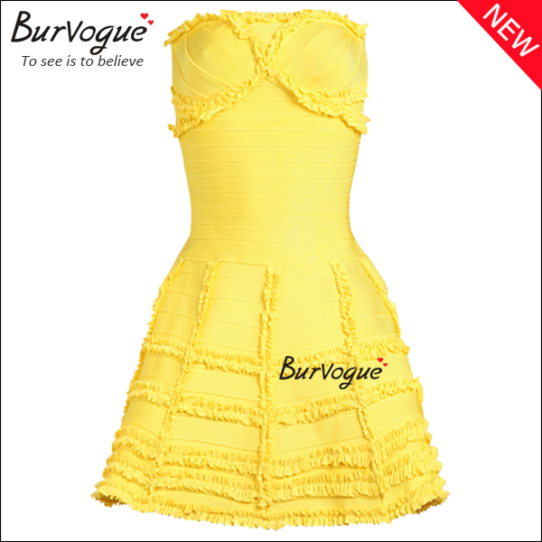 yellow-bandage-dress-casual-party-cocktail-dress-15621