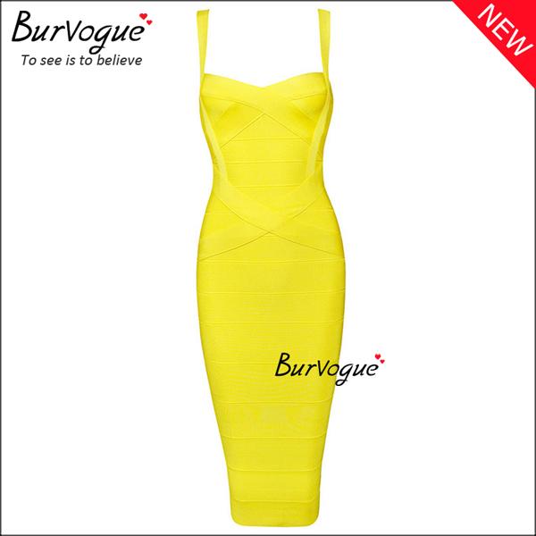 yellow-casual-bodycon-dress-wholesale-15682