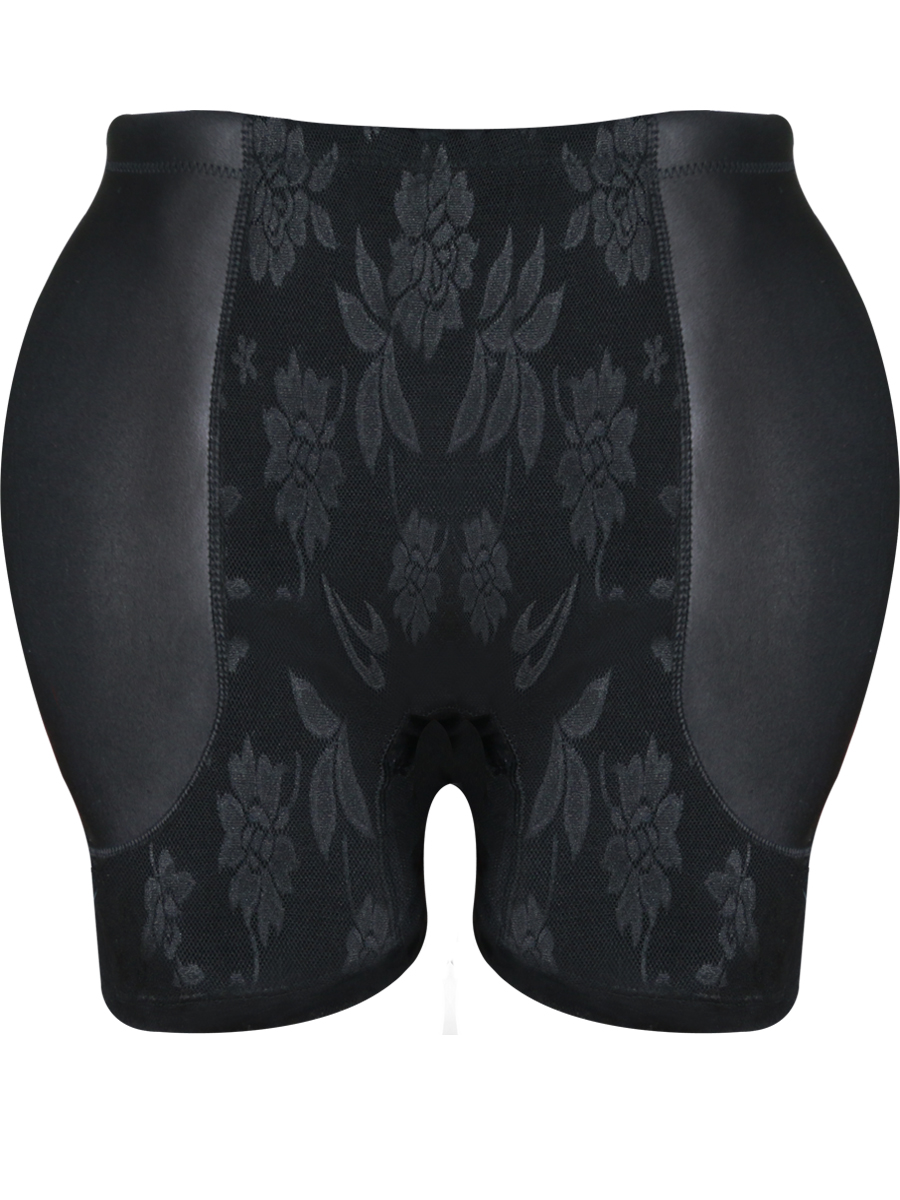 New Sheer Lace Control Bodyshort Butt Hip Lift Shaper