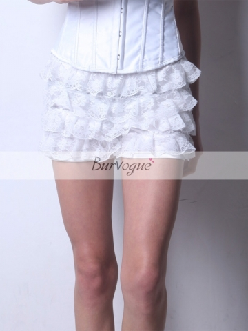 Super Beautiful Pure White Lace Culottes For Ladies