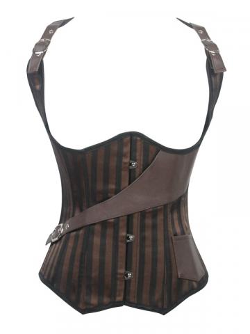 Steel Boned Vest Cavalier Corset Outwear Underbust Corset