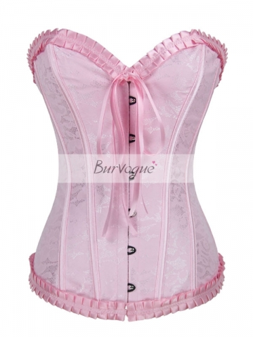 Women Shapewear Corset Pink Elegant Training Corset Tops
