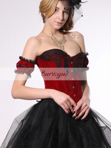 Elegant Red Soft Fleece Bridal Women Corset Wholesale