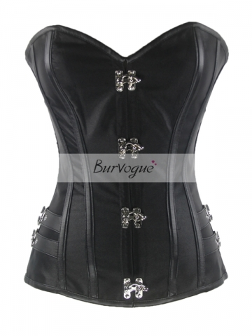 Ring Buckle Tied With Shoelace Overbust Women Corset Tops