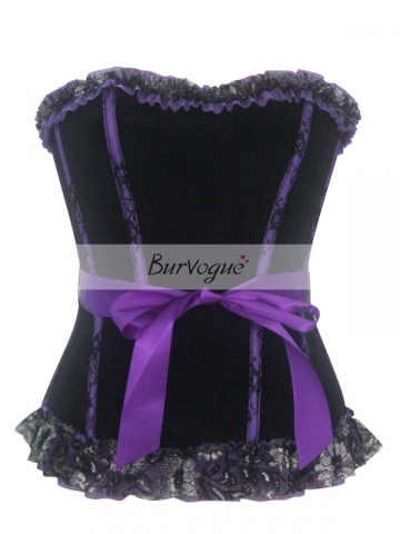 Elegant Purple Flannel Women Corset For Wholesale