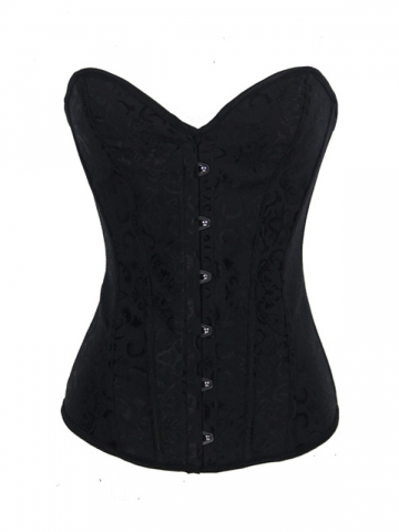 Delicate Plus Size Black Overbust Corset Tops
