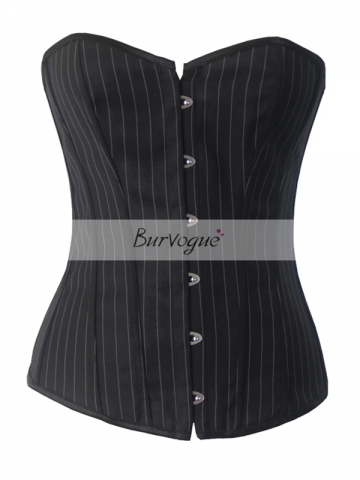 Lady Personality Black Overbust Cotton Corset