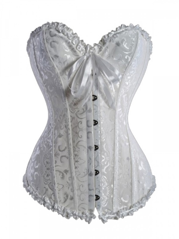 Plus Sizes Beautiful Bridal Women White Corset