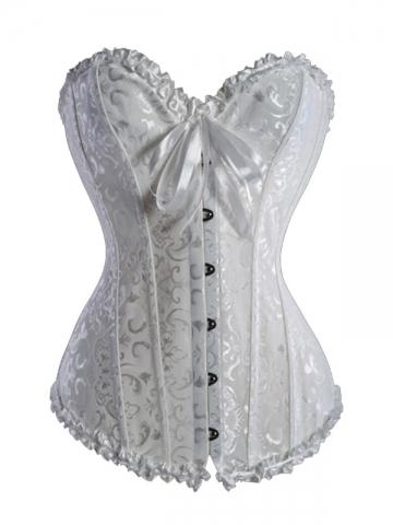 Plus Sizes Beautiful Bridal Women White Corset