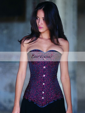 Beautiful Purple Victorian Noble Overbust Corset Bustier