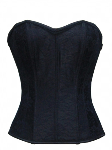 Black Lace Steel Boned Women Corset Tops