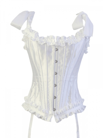 White Steel Boned Halter Women Corset Tops