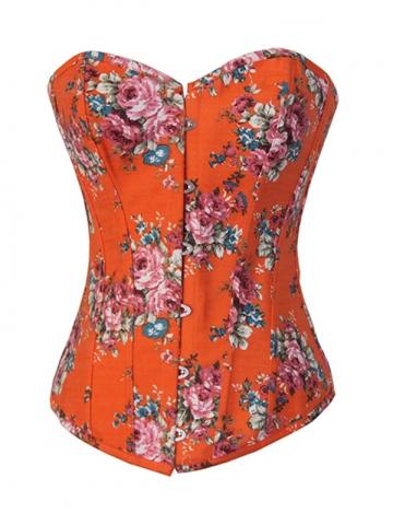 Fashion Orange Jean Ladies Outwear Corset