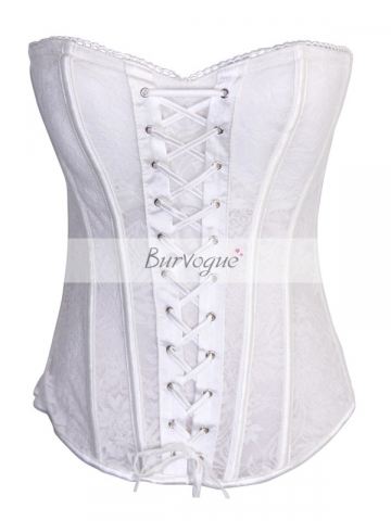 White Lace Bridal Corset Bustiers Wholesale