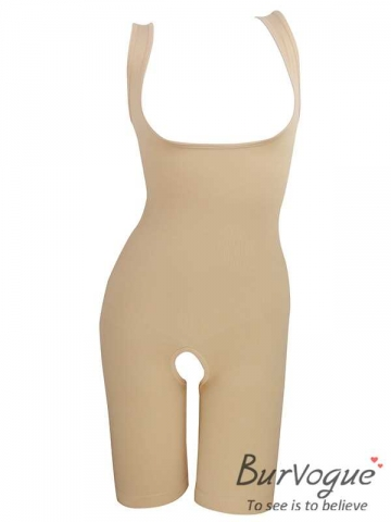 New Black And Skin Body Shpaer Slimming Bodysuit With Strap